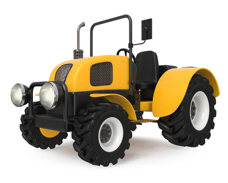 machinery: 3d illustration Agricultural machinery