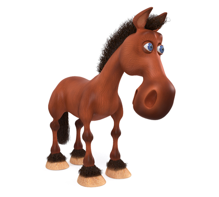 3d illustration the stallion posing in front of sports irregular