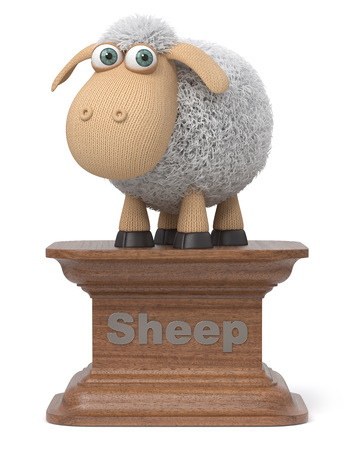 3d illustration monument to the great sheep Фото со стока