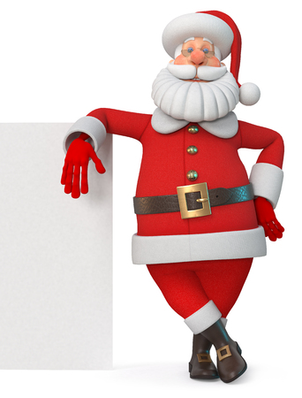 3d illustration New Years congratulation from Santa Claus 写真素材