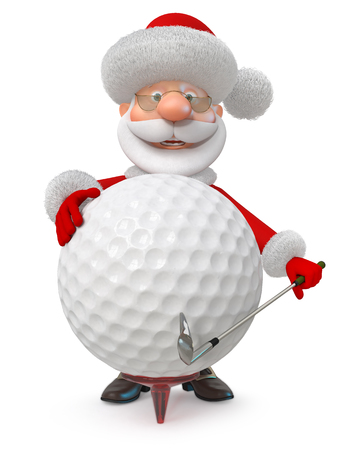 3d illustration the fairy tale character plays golf