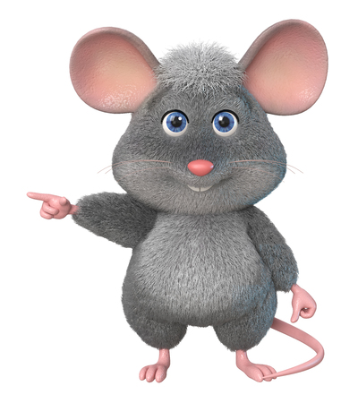 3d illustration home wrecker look like a rat