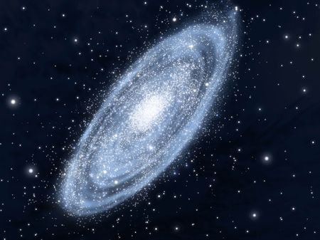 startrek: Spiral galaxy, theoretical vision of our Milk Way