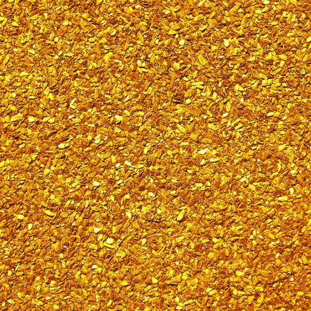 Scattering of small nuggets of gold photo