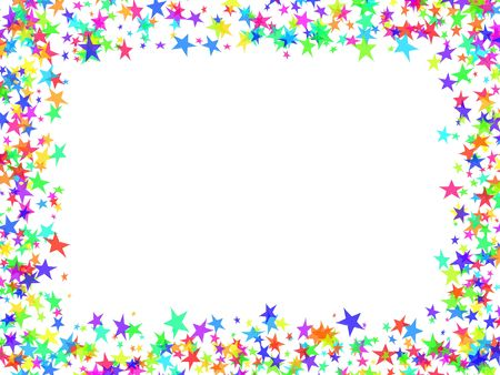 time of the year: Multi-coloured frame stars in the form of confetti