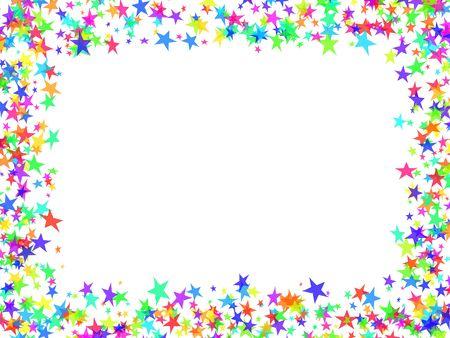 new year eve confetti: Multi-coloured frame stars in the form of confetti