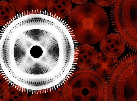 considerable: Considerable quantity of gears on a black background