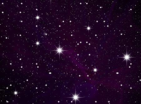 El cielo de estrellas de la noche. Espacios abiertos de espacio Foto de archivo