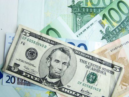 moola: It is a lot of money dollars and euro              Stock Photo