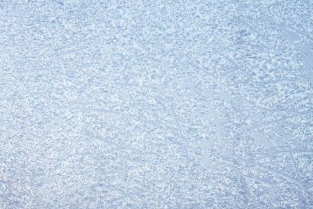 frost: Window in ice in the winter     Stock Photo