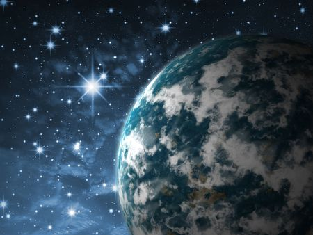 earthlike: Earth-like Fiction planet in outer space