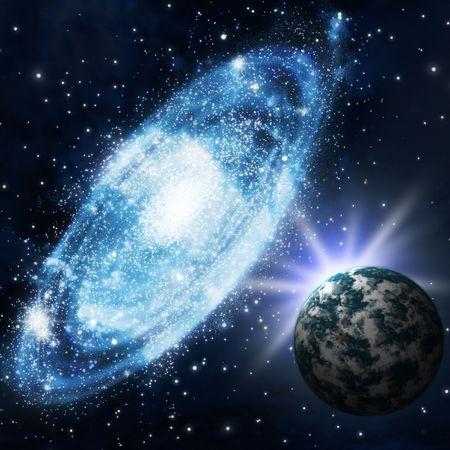 Die Sterne und Galagy. Astronomie-Hintergrund und Kosmos  Standard-Bild