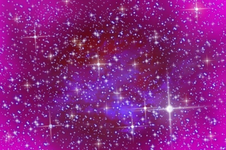 The night star sky. Pink sky and stars photo