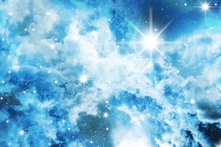 Nebula detail taken through telescope. Stars sky Stock Photo - 9163331