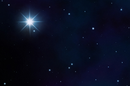 starfield: starfield sky with a view of the universe Stock Photo