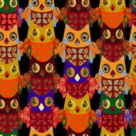 owlet: owlet fisuras sobre un fondo negro Vectores