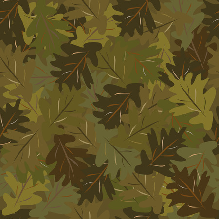 oak leaves: oak leaves camouflage Illustration