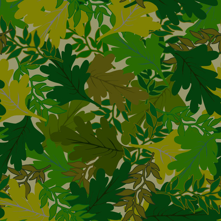 hues: camouflage background leaves green hues Illustration