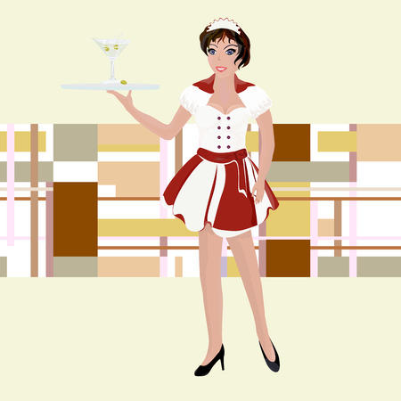 waitress: girl waitress