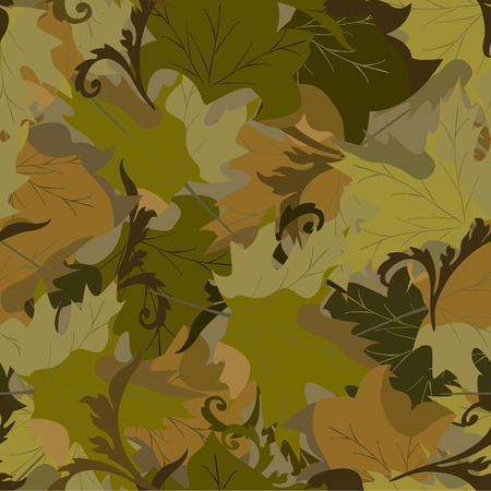 khaki background with autumn leaves