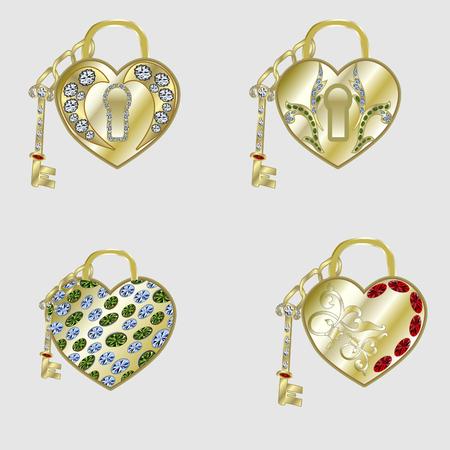 heart and keyss