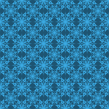 vector illustration Christmas seamless background set of snowflakes on a gold background Illustration