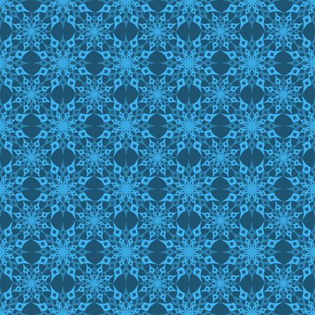 vector illustratie Kerst naadloze achtergrond set van sneeuwvlokken op een gouden achtergrond