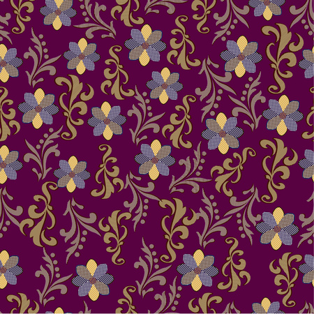 Seamless lace background with abstract pattern Illustration