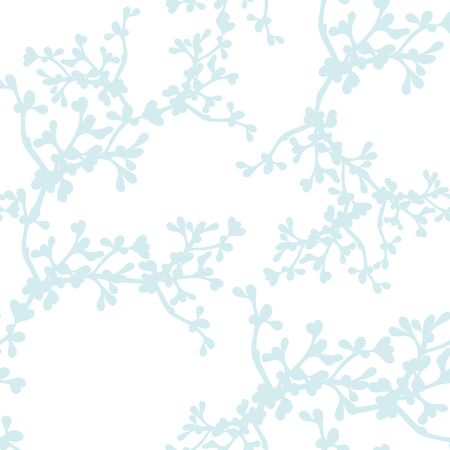 Soft Blue Branches Print Repeat Pattern Vector Background