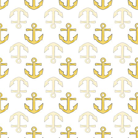 Joyful Nautical Collection Repeat Seamless Print Pattern in Vector. A happy joyful print. Banque d'images - 137655674