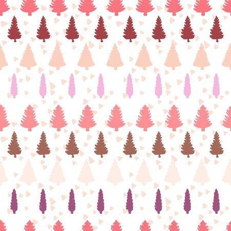 Swedish Trees in the Forest Repeat Pattern Vector 일러스트