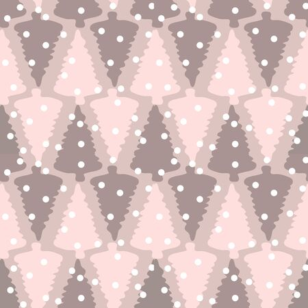 Its snowing in the Forest Repeat Seamless Pattern Vector
