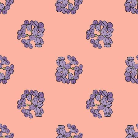 Soft Blue Floral Seamless Repeat Pattern Vector Background Illustration