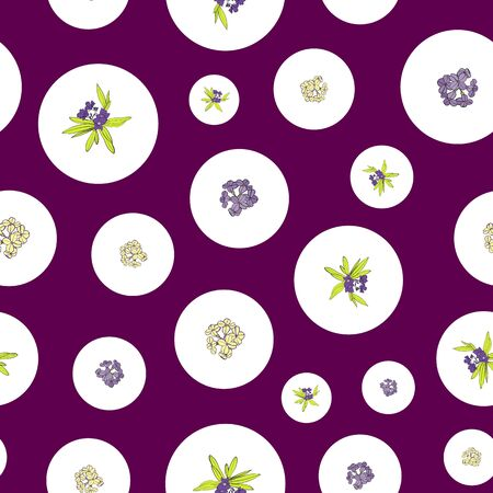 Lavender Collection Floral Seamless Repeat Pattern Print in Vector
