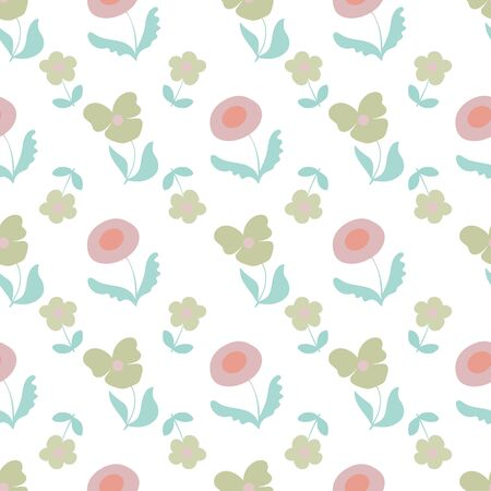 Garden Party Floral Repeat Pattern Vector Print. A pretty pattern for any occasion.