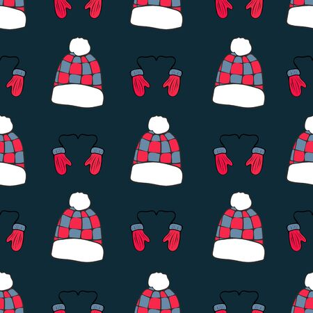 Winter Fun Repeat Pattern Collection Print in Vector Stockfoto - 132189262