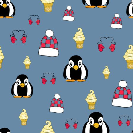 Winter Fun Repeat Pattern Collection Print in Vector