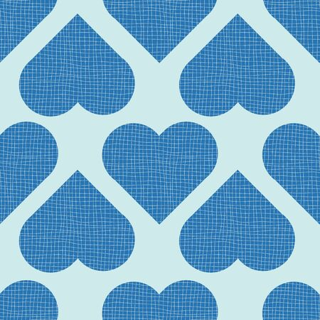 Queen of Hearts in Blue Print Repeat Pattern Vector