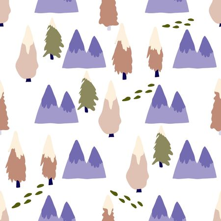 Winter Wonderland Collection Repeat Pattern Seamless Print Vector