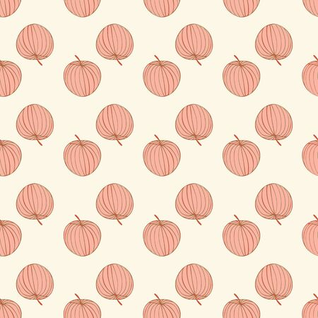 Happy Thanksgiving Apple Harvest Repeat Pattern Vector
