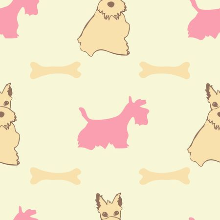 Scottie Dog Pattern Print Collection Repeat Seamless in Vector. A cute print for any surface.