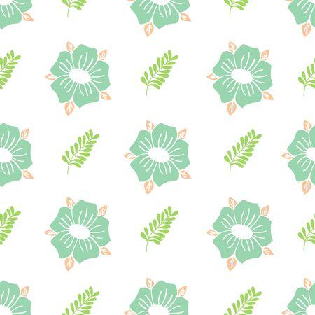 Vert Garden Floral Collection Repeat Pattern Vector Print