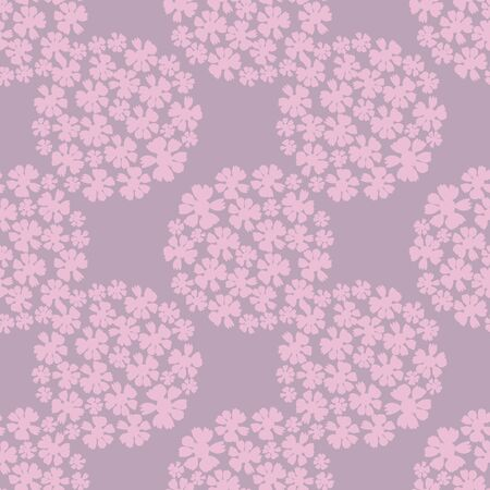 Large Lavender Hydrangea Blossoms Repeat Seamless Pattern Vector Print