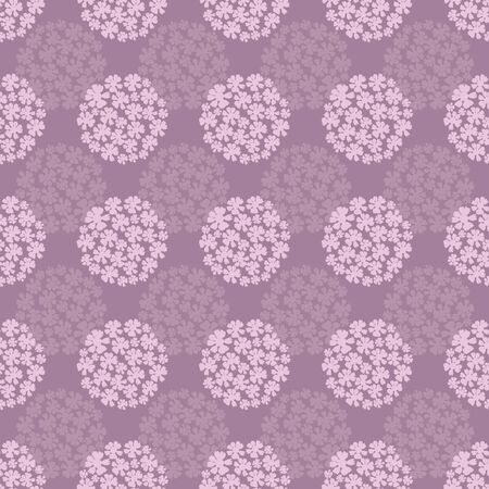Hydrangeas in Bloom Repeat Seamless Pattern Vector Print