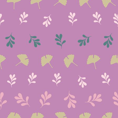 Tiny Horizontal Stylized Floral Collection Repeat Pattern Vector Print