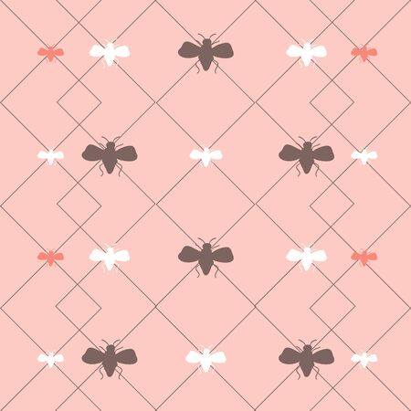 Honey Bee Print Seamless Repeat Pattern Vector. A pretty print for any surface.