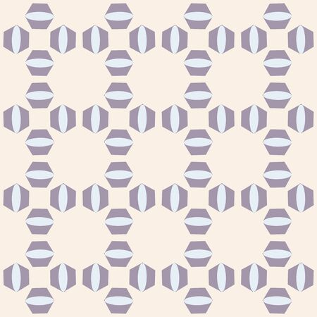 Lavender and Cream Cubical Mosaic Repeat Pattern Vector Print Stock Illustratie