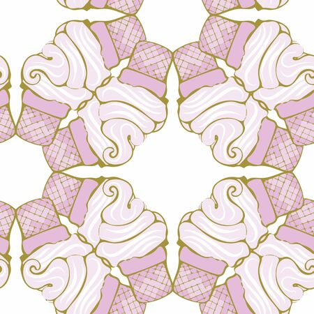 A fun abstract ice cream pattern. Perfect for any surface.