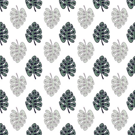Nothing but Palms on White Background Repeat Pattern Vector. A perfect palm print for any surface.