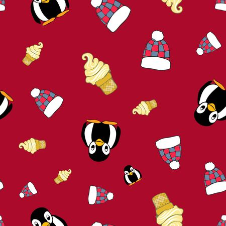 Winter Fun Repeat Pattern Collection Print in Vector. A cute print for any surface.